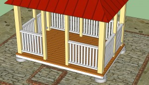 Rectangular gazebo railings plans
