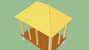 Rectangular gazebo roof