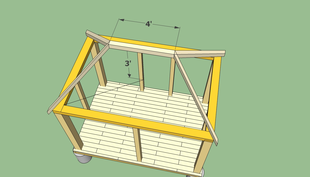 Rectangular gazebo plans howtospecialist how to build for Roof plans