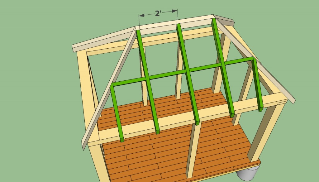 Rectangular gazebo plans howtospecialist how to build for Hip roof design software