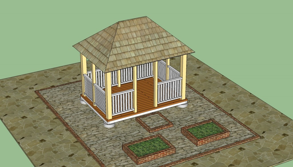 Fresh Rectangular gazebo plans free