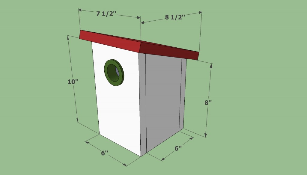 simple birdhouse plans howtospecialist how to build ForSimple Diy Birdhouse Plans