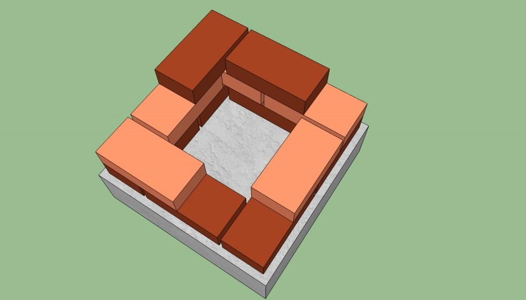 Building brick barbeque