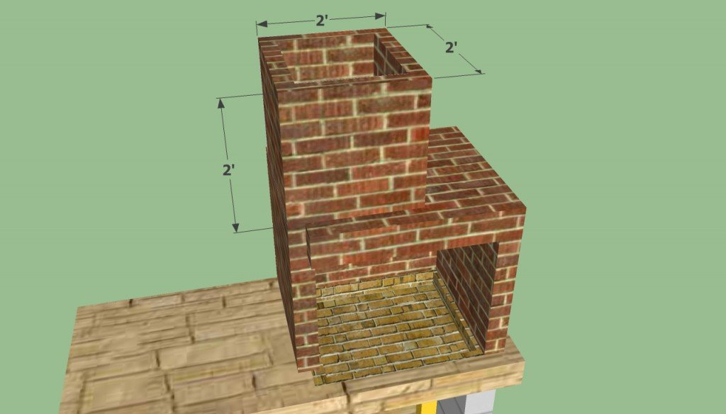 Building the chimney of the bbq