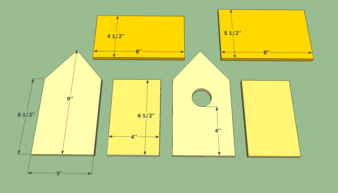 How to build a bird house howtospecialist how to build for Simple diy birdhouse plans