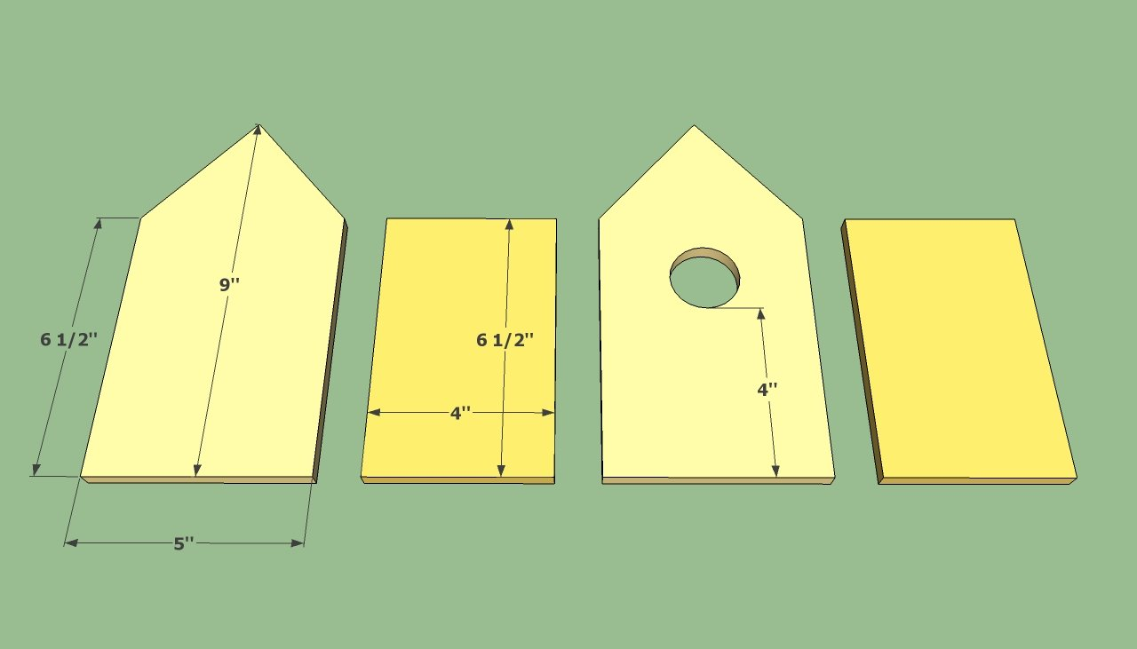 Birdhouse plans free howtospecialist how to build for Easy house plans free