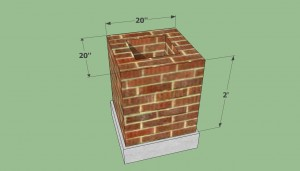 Brick barbeque base