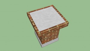 Brick barbeque countertop