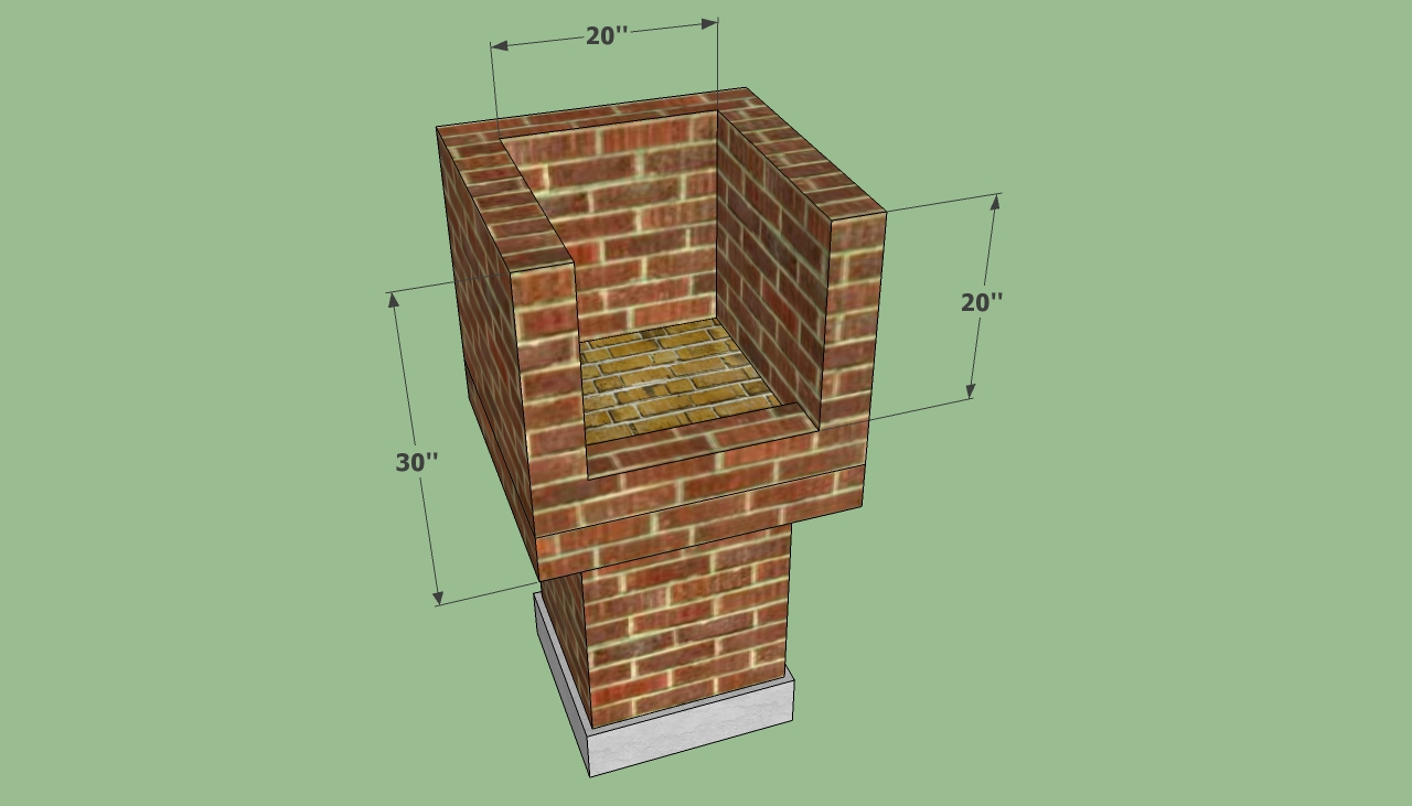 Brick barbeque plans howtospecialist how to build for Bbq designs and plans