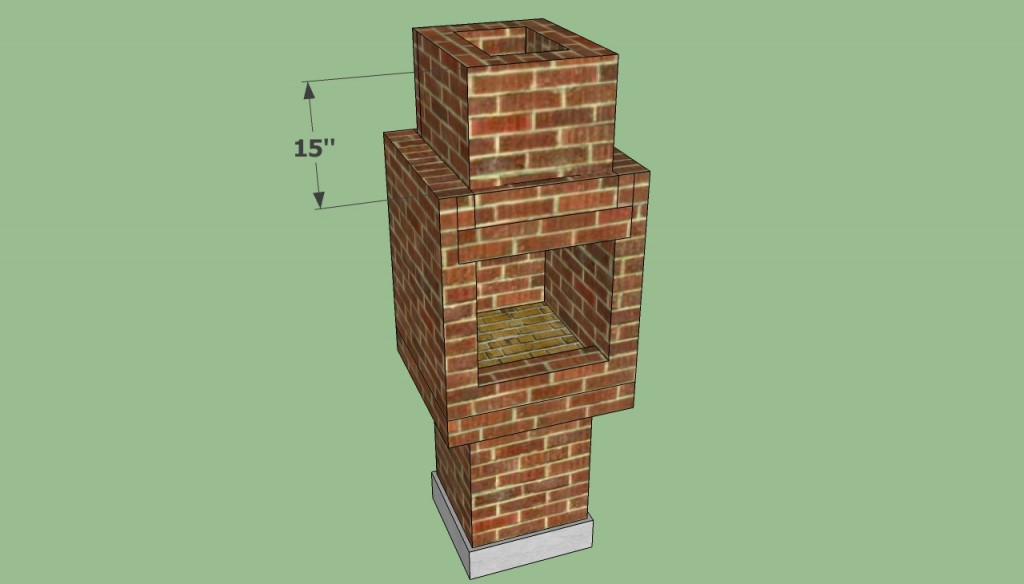 Brick barbeque chimney plans