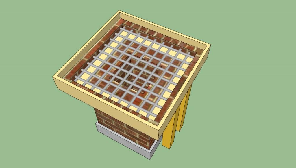 Brick barbeque countertop plans
