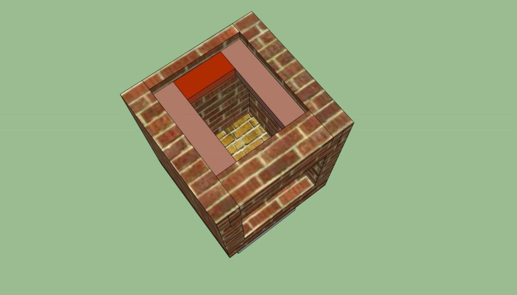 Brick barbeque chimney details
