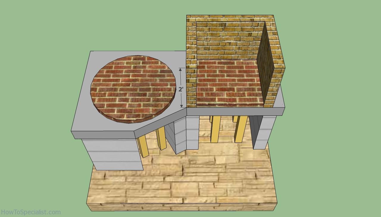 Build Brick Bbq Plans Image
