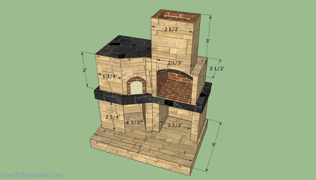Brick oven dimensions
