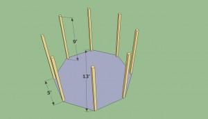 Installing octagonal gazebo posts