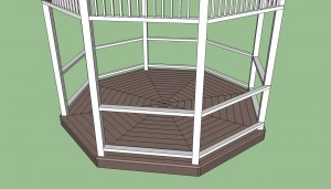 Gazebo top railings plans free
