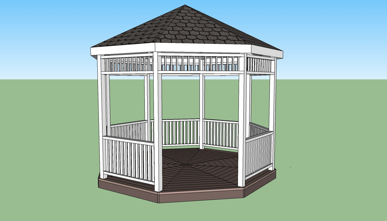 plans free free gazebo plans part 2 woodworking projects gazebo plans ...