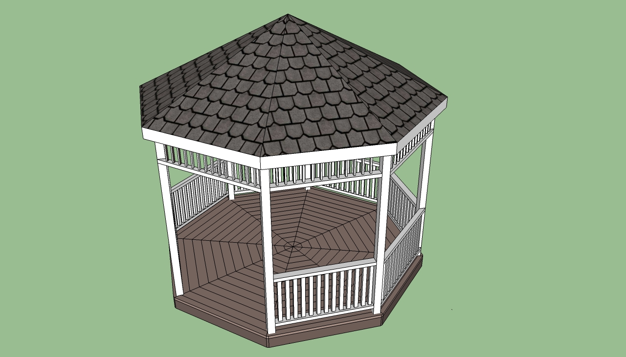 Free Gazebo Plans - Gazebo Blueprints - Free Gazebo Plan - Gazebo