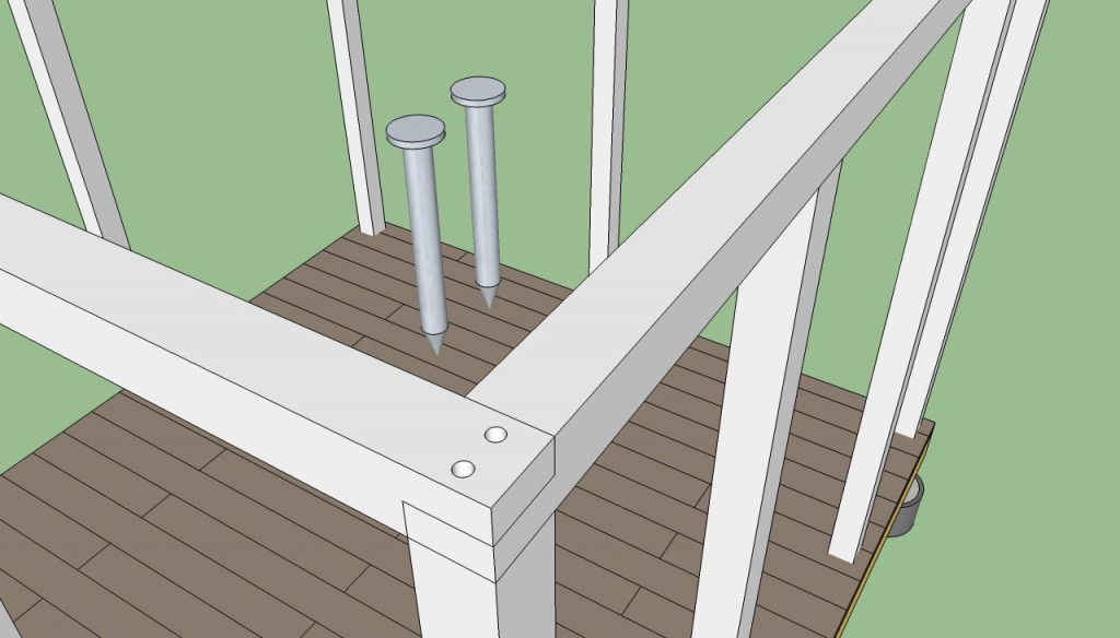 How to build gazebo top plate