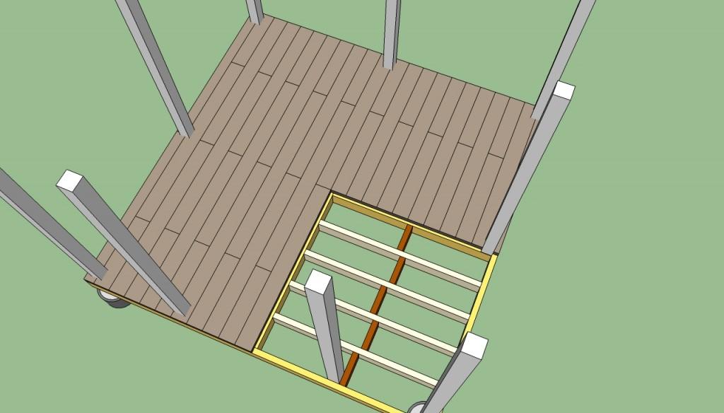 How to build a gazebo decking