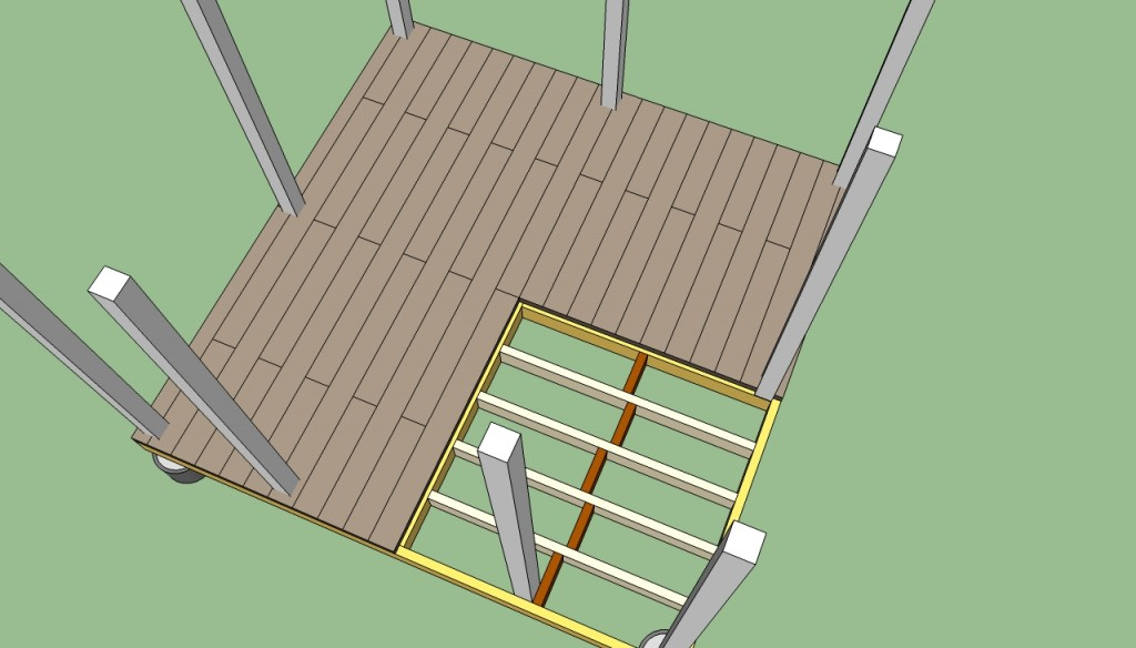 How to build a gazebo decking