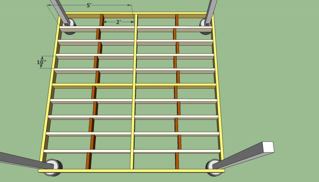 Gazebo floor frame