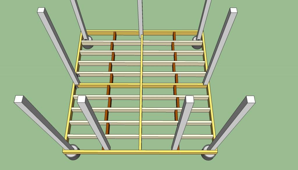How to build gazebo floor frame