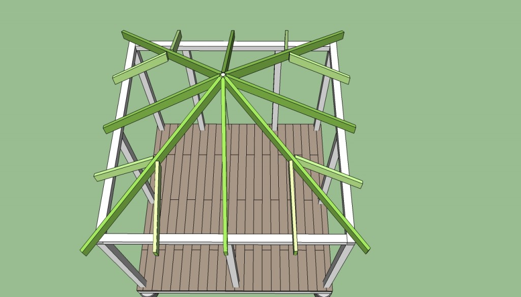 How to build gazebo roof