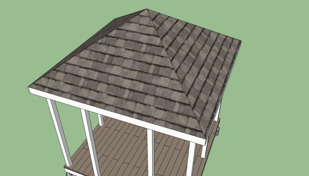 How to build a gazebo roof 3