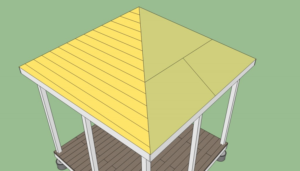 How to build gazebo roof 2