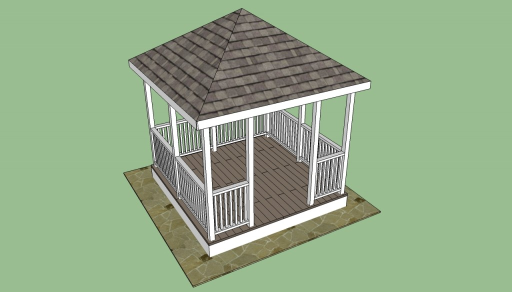 How to build gazebo railings 1