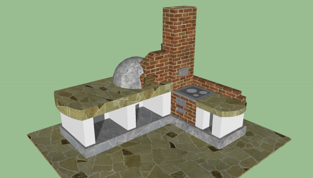 Traditional outdoor barbeque design