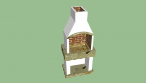 Outdoor brick barbeque plans