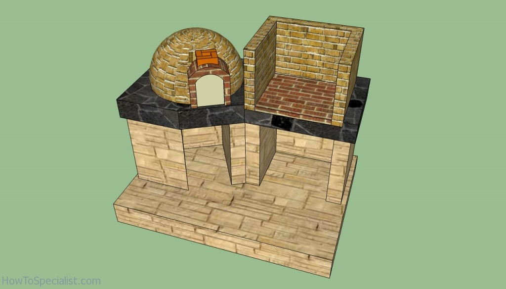 Brick oven and barbeque plans