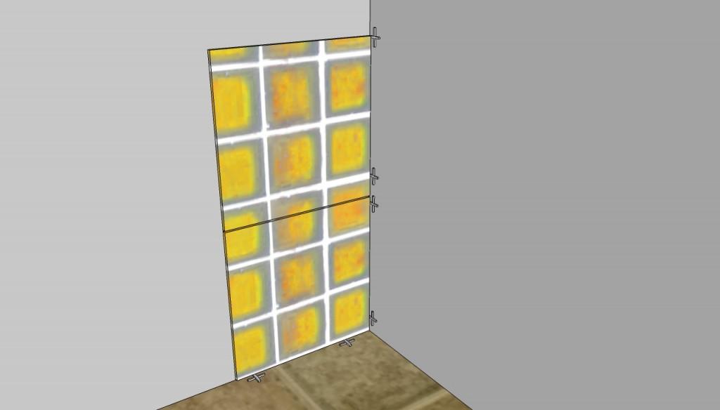Tiling interior corners without plastic trim