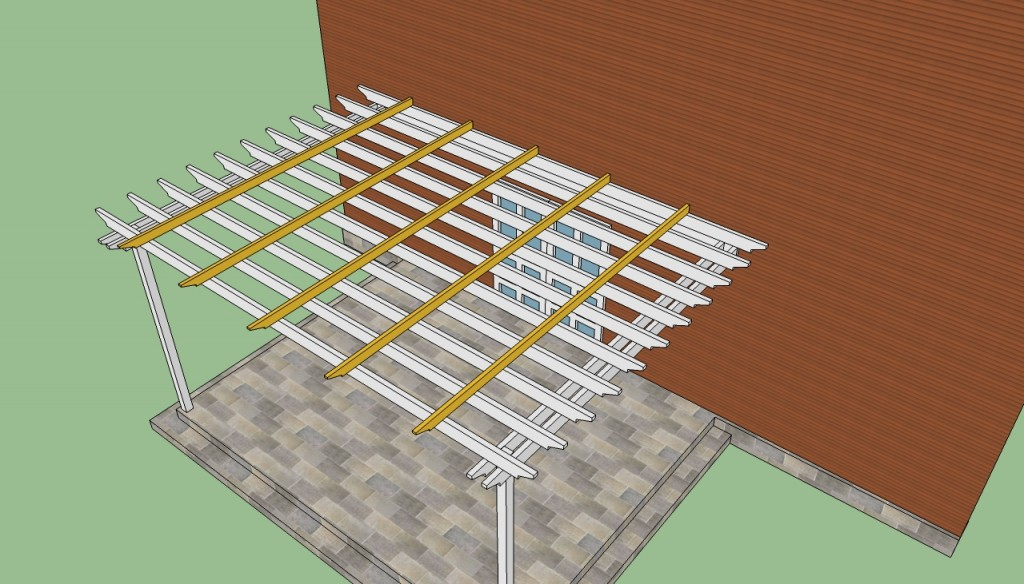 Attached to house pergola