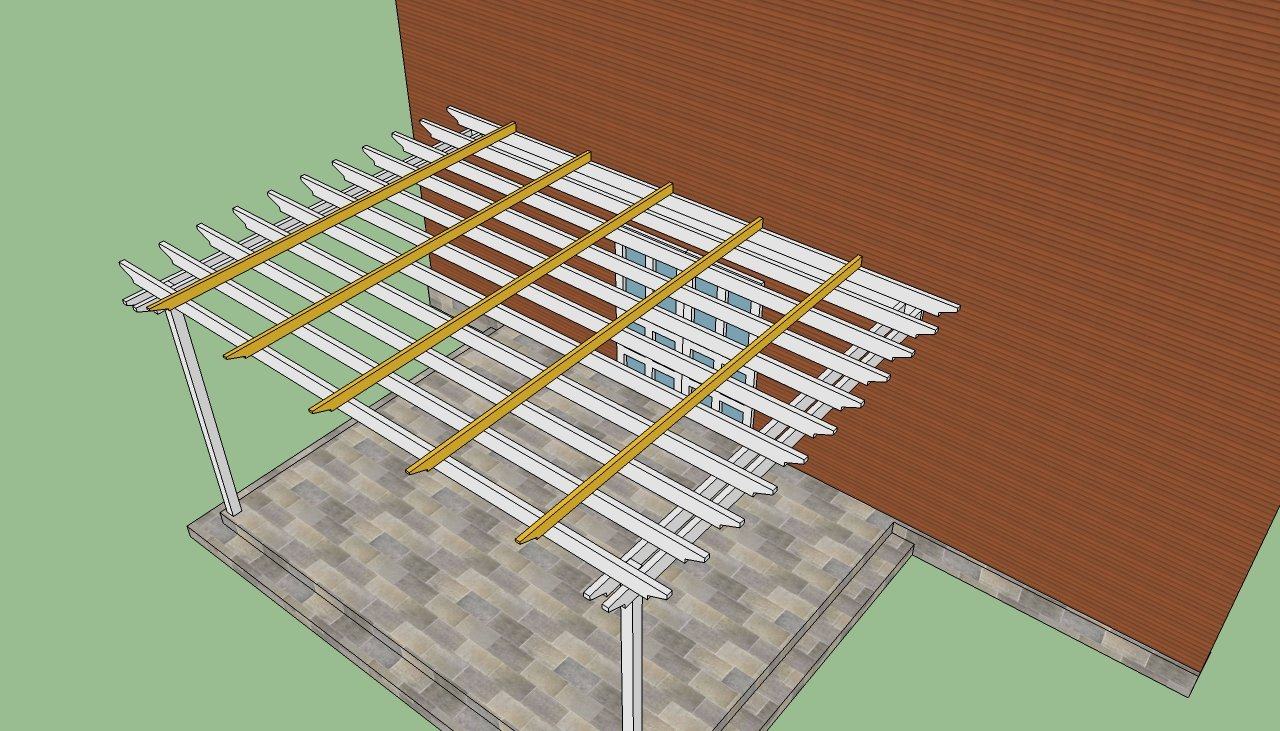 attached pergola plans  how to build