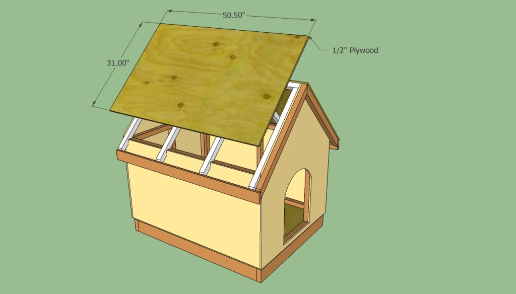 Attaching plywood to the roof