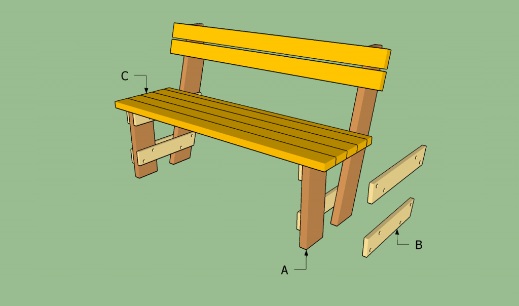 Free garden bench plans HowToSpecialist How to Build Step by