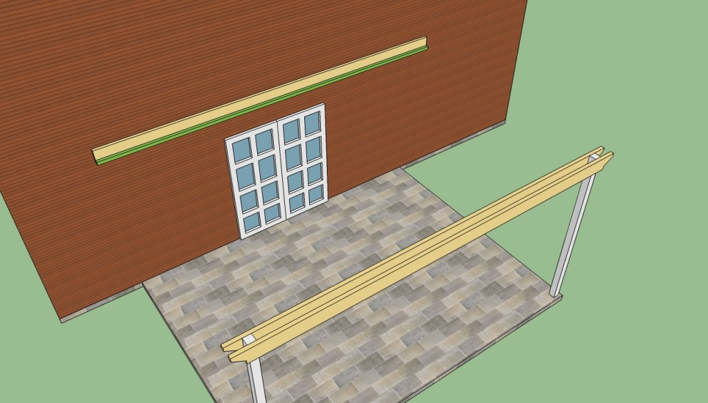 Building attached pergola plans