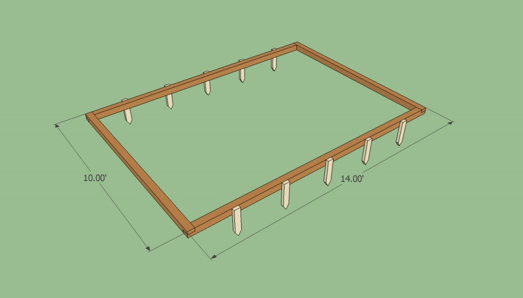 Building the greenhouse frame