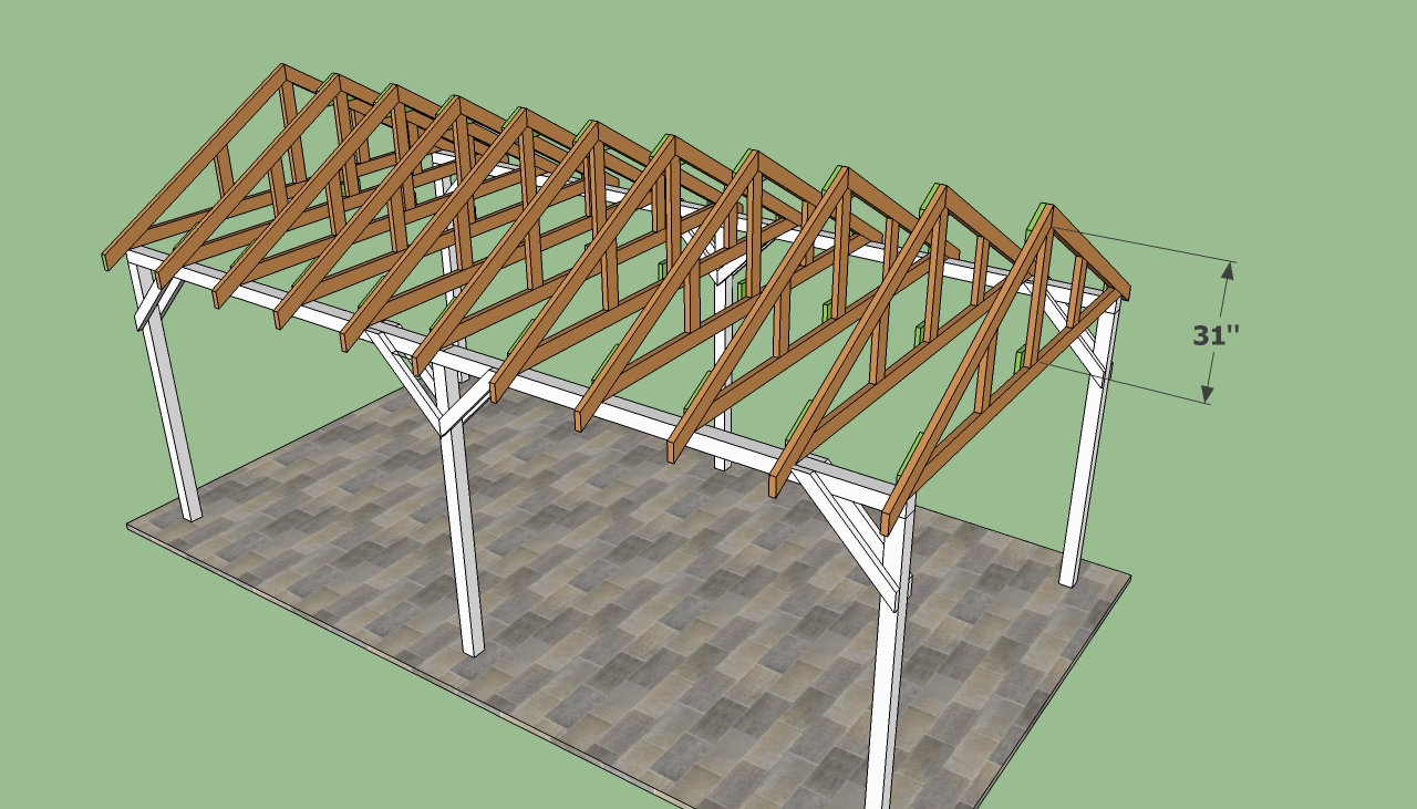 how to build wood carport