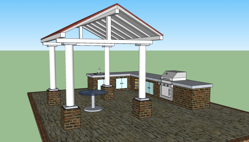 Covered pergola design