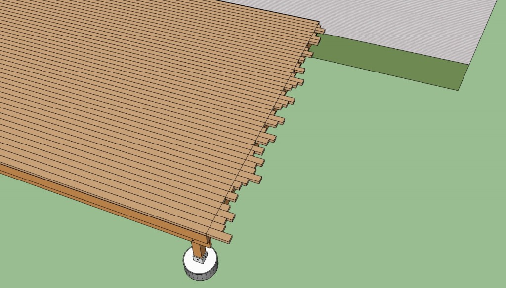 Cutting decking boards