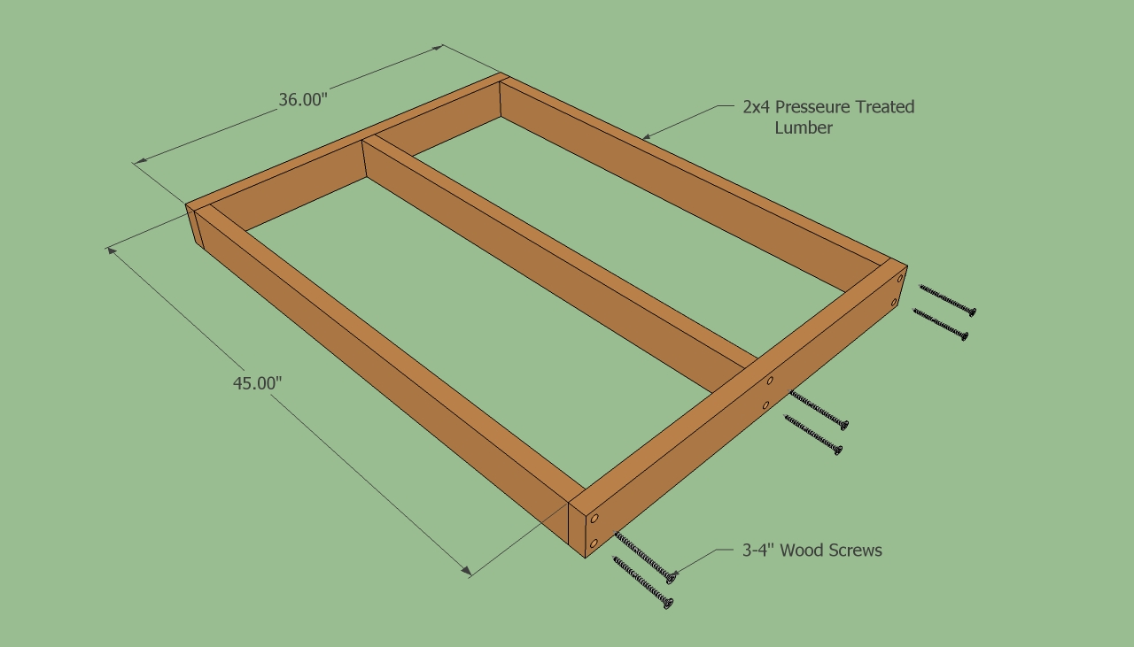 Dog house plans free howtospecialist how to build for Dog kennel floor plans