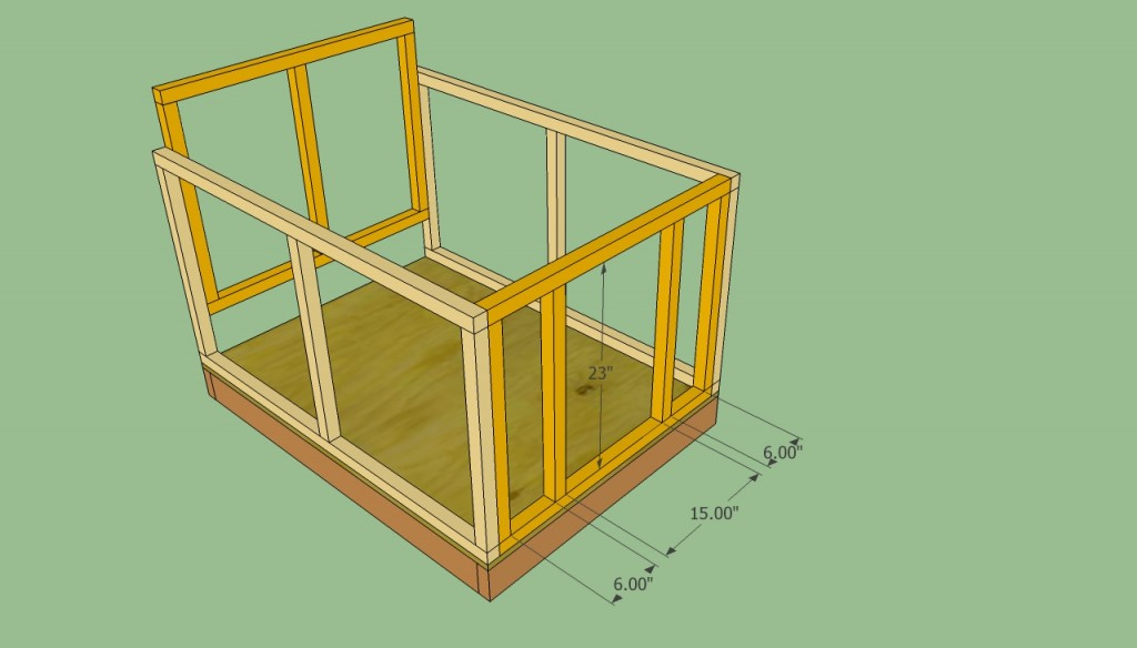 Dog house entrance plans
