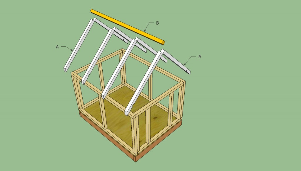 Dog house roof plans