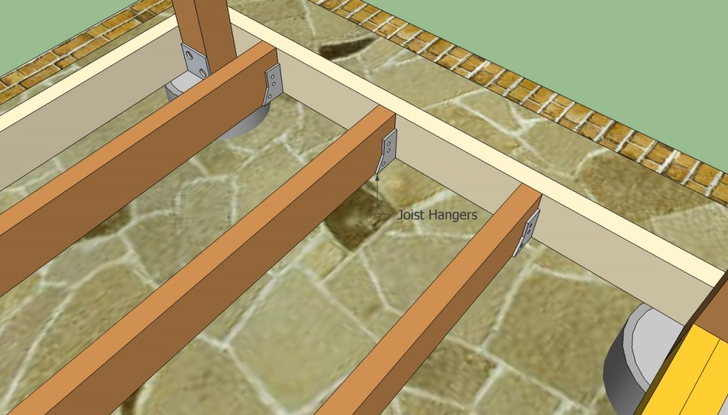 Fastening joists to perimeter beams