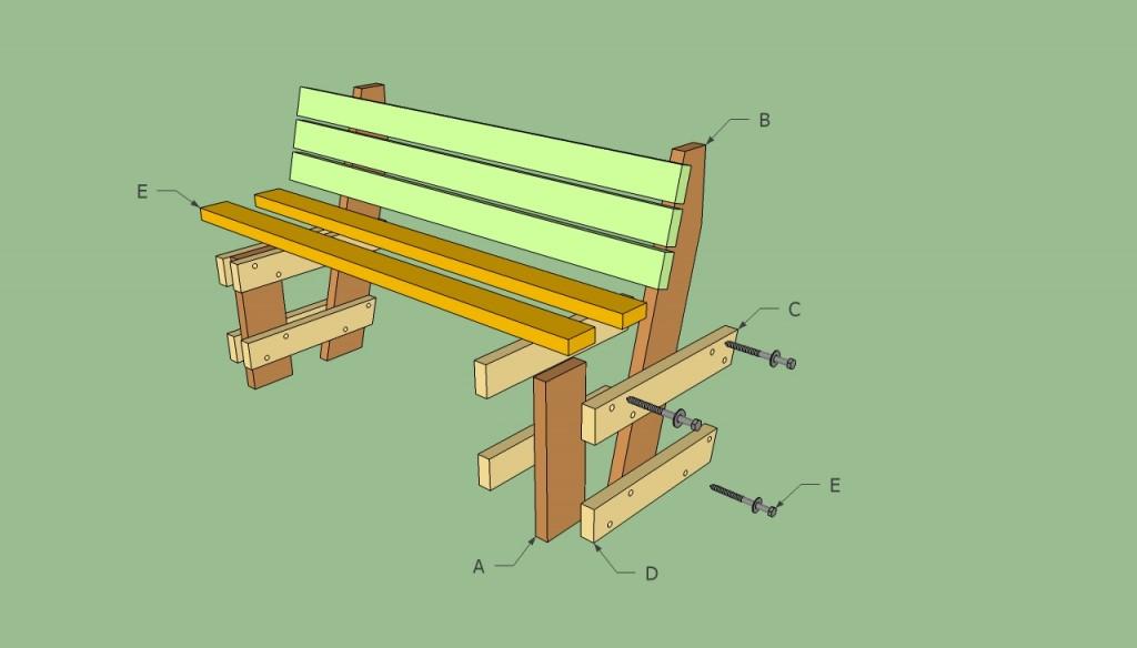Simple Garden Bench Design simple bench frame Free Garden Bench Plans