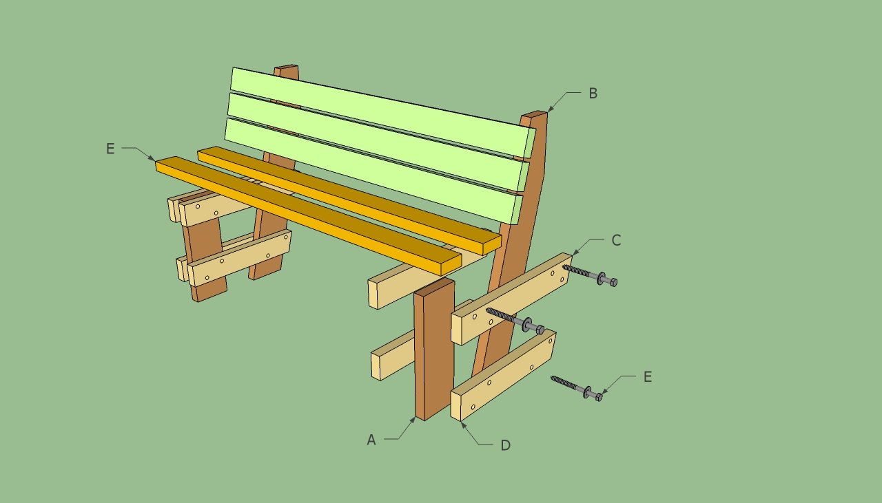 Free garden bench plans | HowToSpecialist - How to Build ...